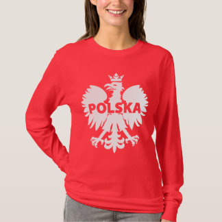 Poland Polska Eagle Red and White T-Shirt