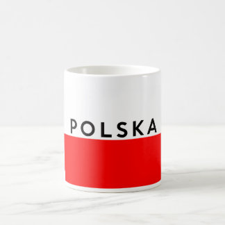 poland polska flag country polish text name coffee mug