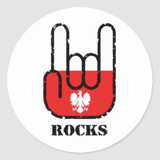 Poland Rocks Classic Round Sticker