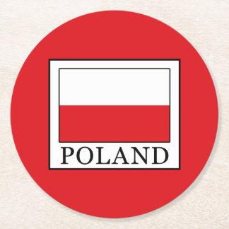 Poland Round Paper Coaster