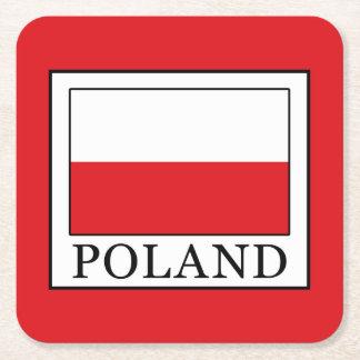 Poland Square Paper Coaster