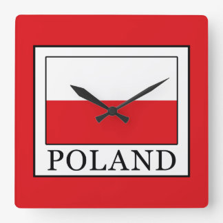 Poland Square Wall Clock