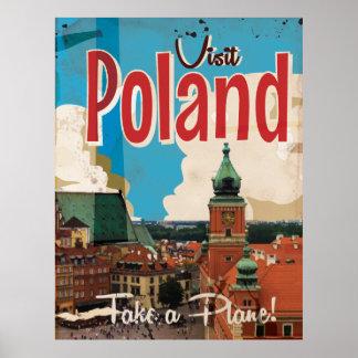 Poland Vintage Travel Poster