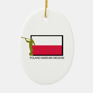 POLAND WARSAW MISSION LDS CTR CERAMIC ORNAMENT