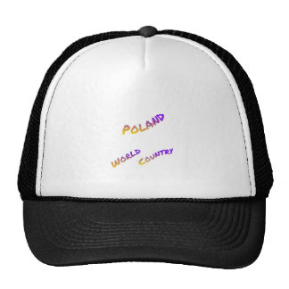 Poland world country,  colorful text art trucker hat