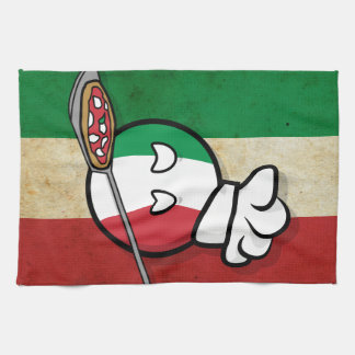 Polandball - Italyball making pizza Kitchen Towel