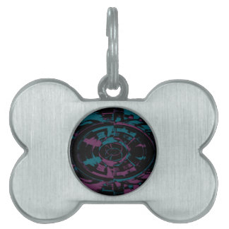 Polar Abstract -Blue and Purple Pet Tag