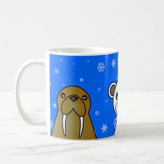 Polar Animals Blue Snowflake Mug