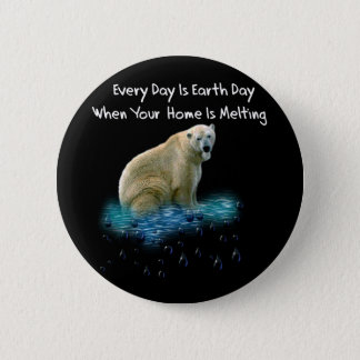 Polar Bear 2 Inch Round Button