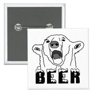 Polar Bear 2 Inch Square Button