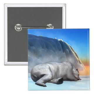 Polar bear - 3D render 2 Inch Square Button