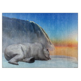 Polar bear - 3D render Boards