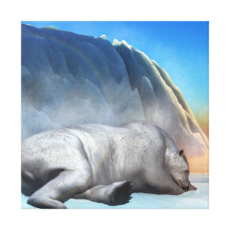 Polar bear - 3D render Canvas Print