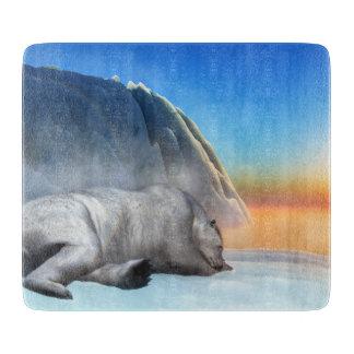 Polar bear - 3D render Cutting Board