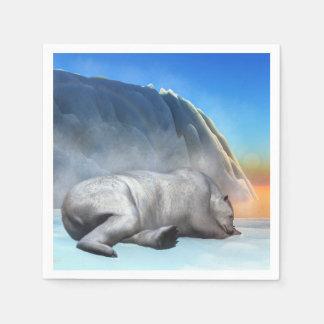 Polar bear - 3D render Disposable Napkin