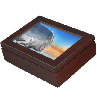 Polar bear - 3D render Keepsake Box