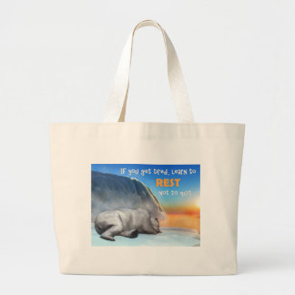 Polar bear - 3D render Large Tote Bag