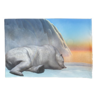 Polar bear - 3D render Pillowcase