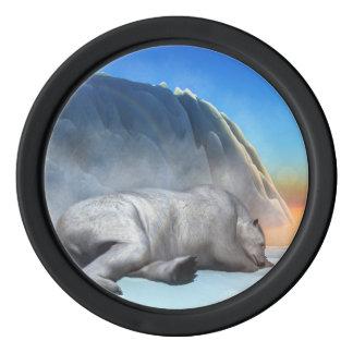 Polar bear - 3D render Poker Chips