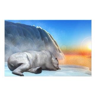 Polar bear - 3D render Stationery