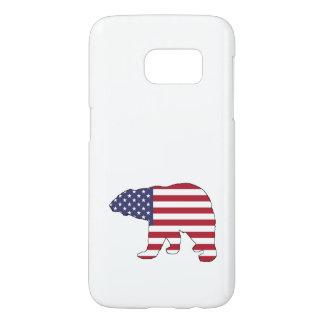 "Polar bear ""American Flag"" Samsung Galaxy S7 Case"