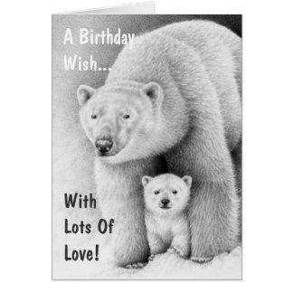 Polar Bear and Cub Greeting Card