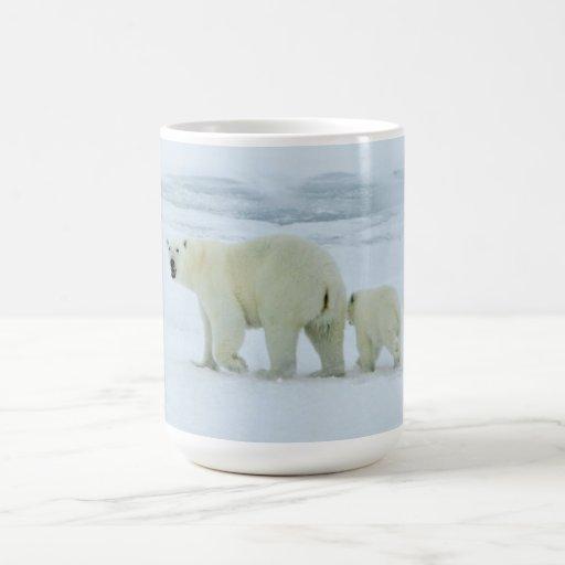 Polar Bear and Cub Coffee Mugs