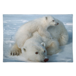 Polar Bear and Cub Wildlife Lovers Placemat
