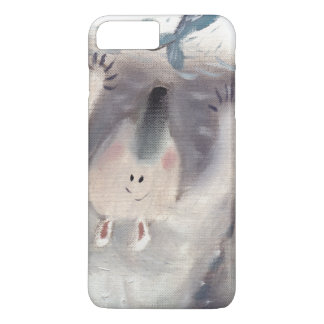 Polar bear and fish oilpainting iphone barely iPhone 7 plus case