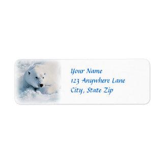 Polar Bear and Snow Return Address Label