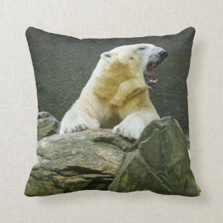 Polar Bear - Angry Throw Pillow