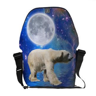 Polar Bear & Arctic Moon Messenger Bag