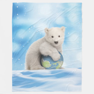 Polar Bear Arctic World Blanket