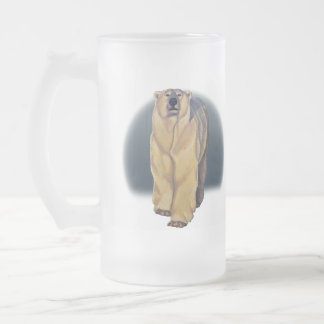 Polar Bear Art Beer Glass Wildlife Art Bear Mugs