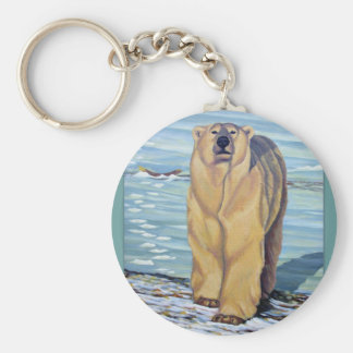 Polar Bear Art Key Chain Canadian Wildlife Gifts