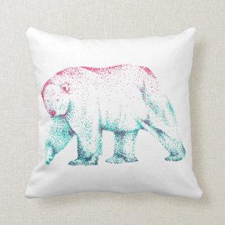 Polar bear art throw cushion