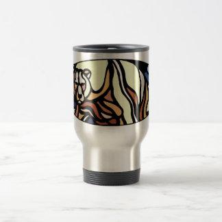 Polar Bear Art Travel Mug Native Art Bear Cup