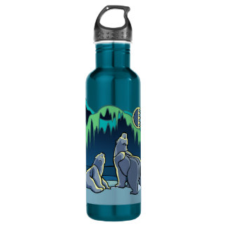 Polar Bear Art Water Native Bear Art Sport Bottle