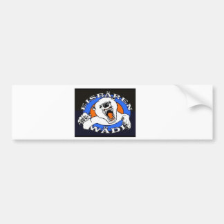 Polar bear article bumper sticker