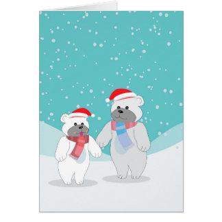 polar bear B Card