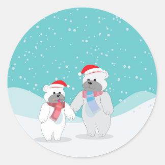 polar bear B Classic Round Sticker