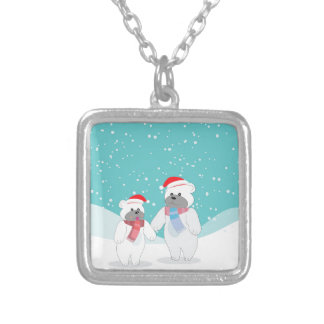 polar bear B Silver Plated Necklace