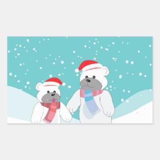 polar bear B Sticker