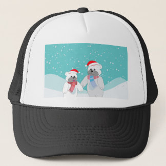polar bear B Trucker Hat