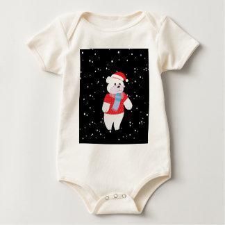 polar bear baby bodysuit