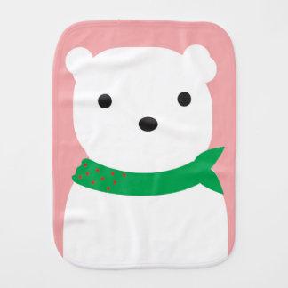 Polar Bear Baby Burp Cloth