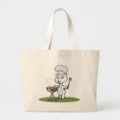 Polar Bear BBQ Canvas Bag