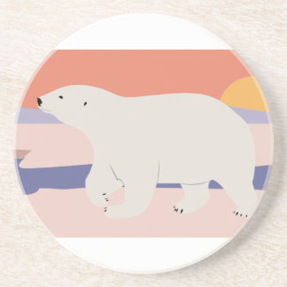 Polar Bear Beverage Coaster