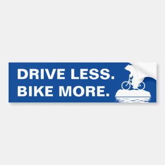 "Polar Bear ""Bike More. Drive Less."" Bumper Sticker"
