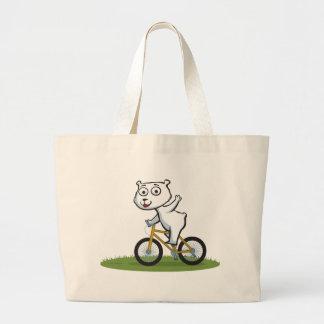Polar Bear Biker Canvas Bag